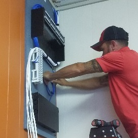 Patch panel installation and cabling